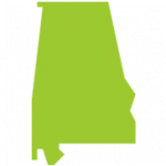 Alabama map green
