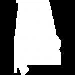 Alabama map white